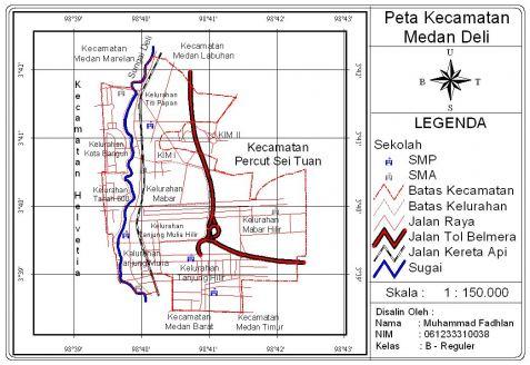 Peta SIG Kecamatan Medan Deli
