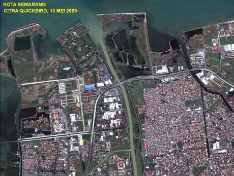 Foto Citra Satelit Citra Satelit Kota Surabaya